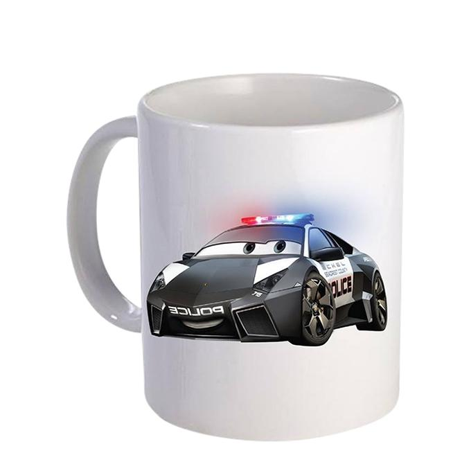 Police Car Ceramic  Mug - White