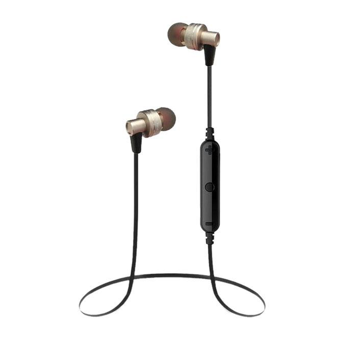 A990BL - Wireless Bluetooth Earphone - Black and Golden