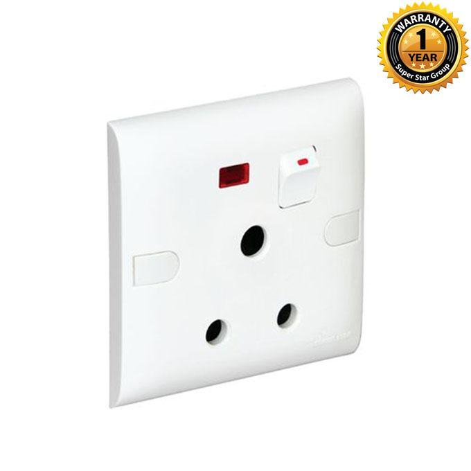 Slim Series Slim 3 Pin Round Socket - White