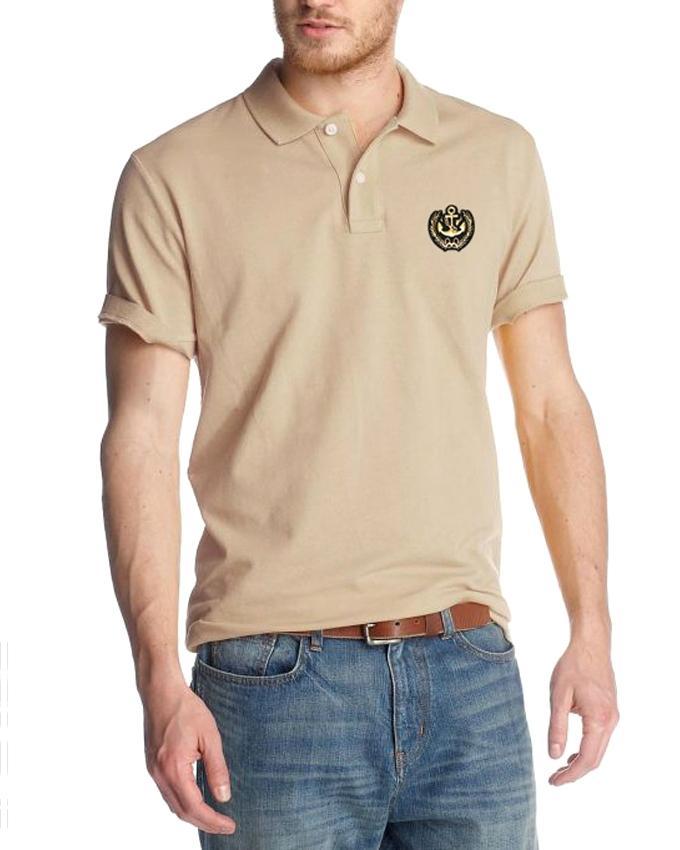 Cotton Casual Short Sleeve Polo - Tan
