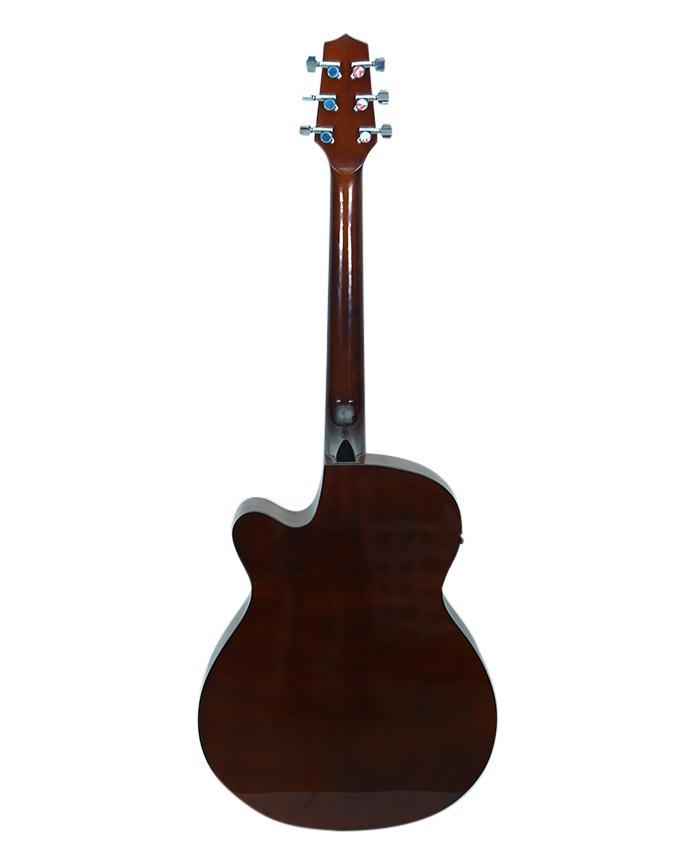 Beige Takamine Dreadnought Cutaway Acoustic-Electric Guitar