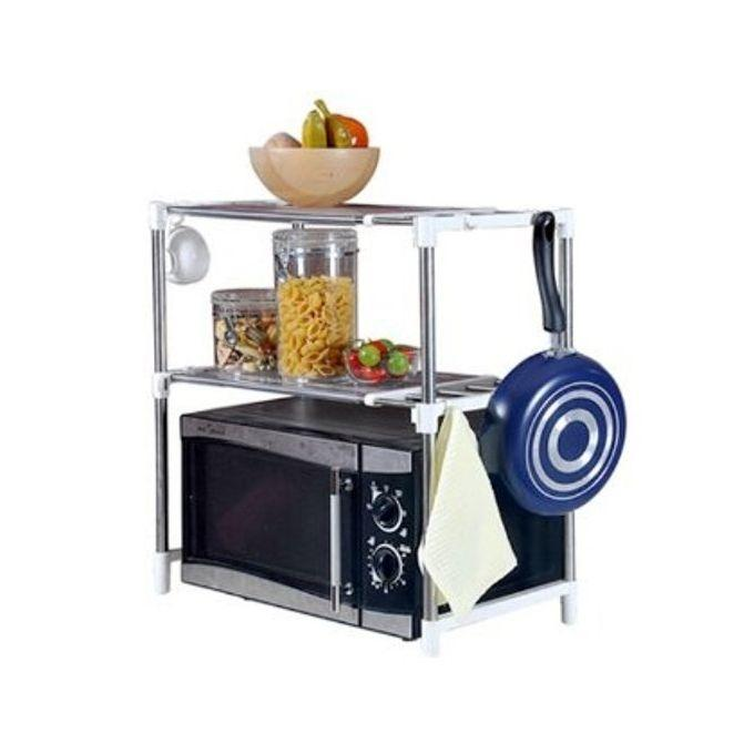 Microwave Oven Storage Racks - Silver