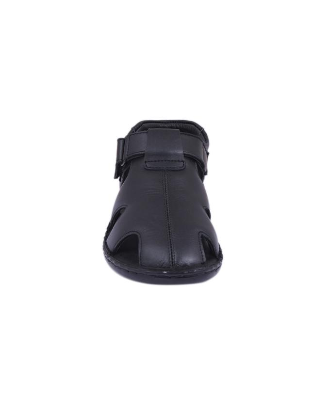 Leather Sandal For Men - Black