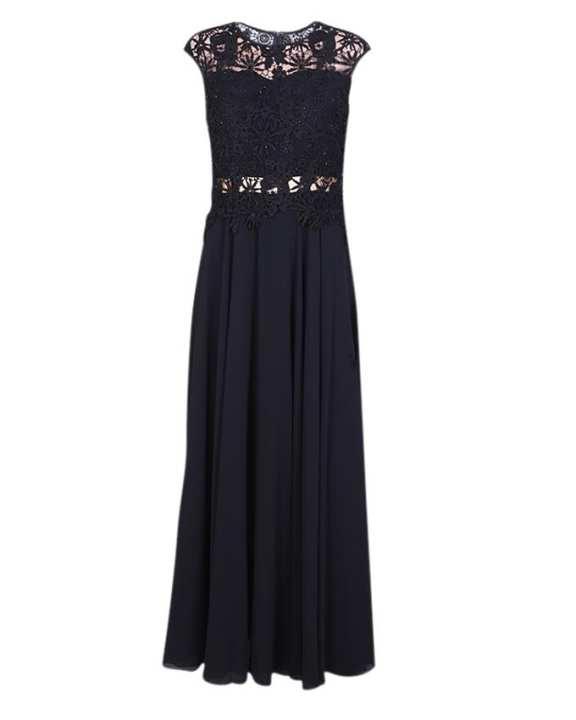 Georgette Dress For Women - Black