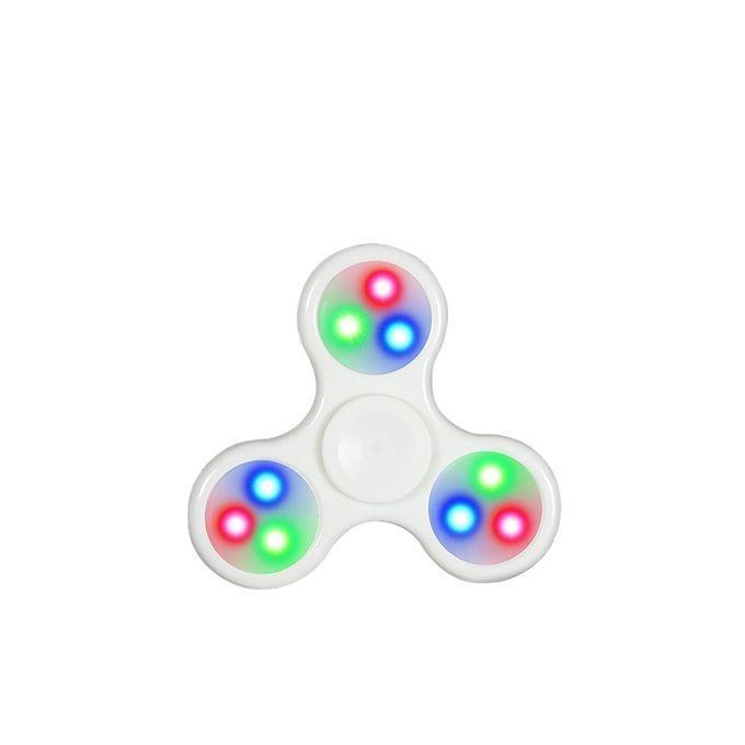 LED Multicolor Fidget Spinner Stress Reducer - White