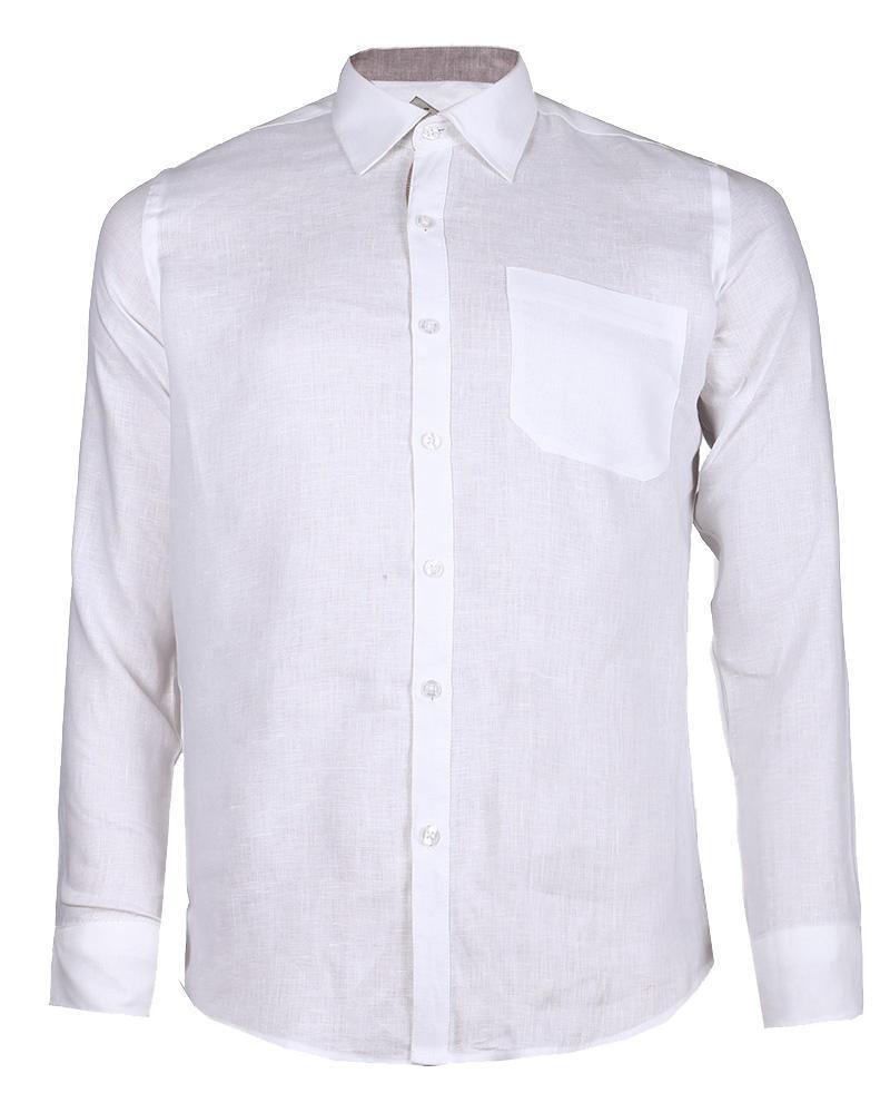 Linen Formal Long Sleeve Shirt - White