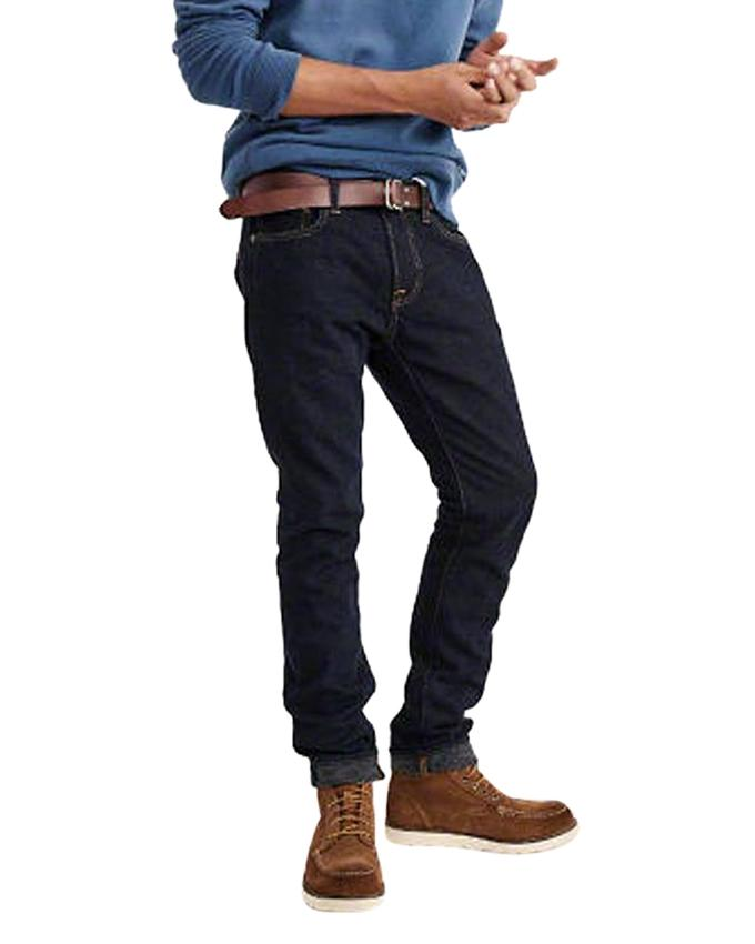 Deep Navy Denim Casual Jeans For Men
