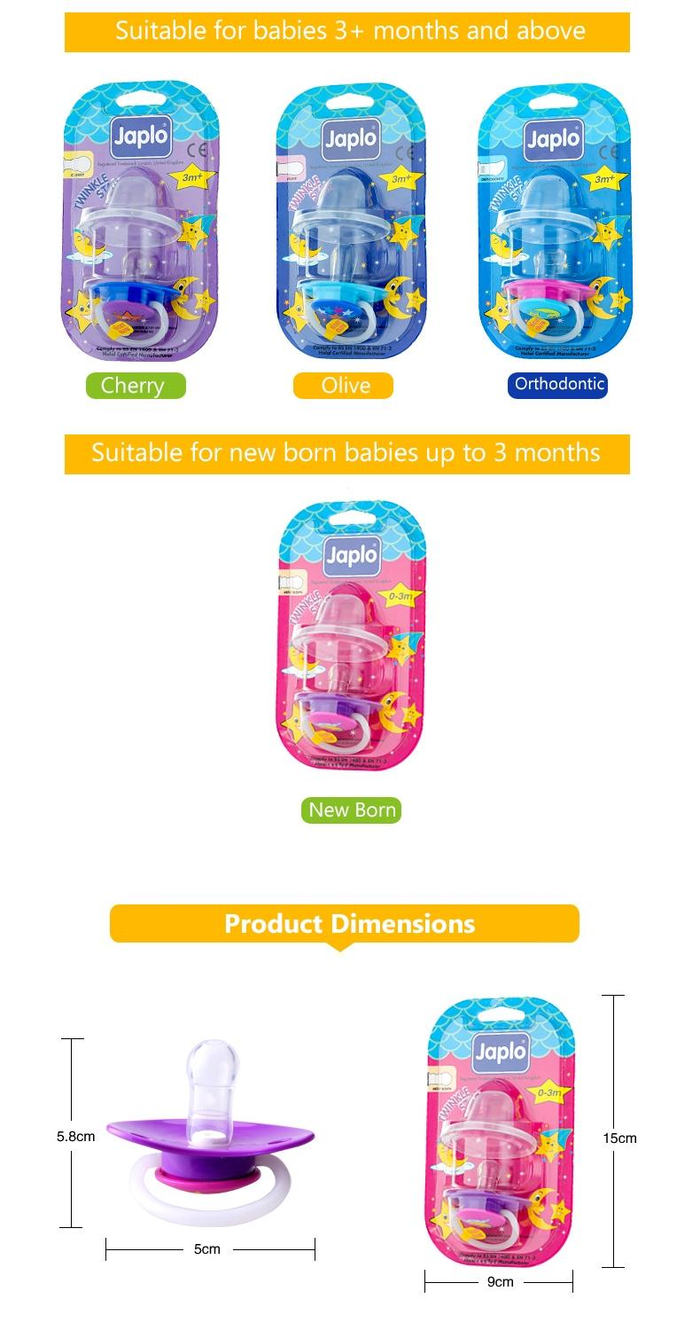 Halal Twinkle Star Baby Soother with Cover - Orthodontic