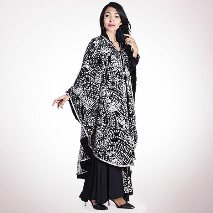 Spandex Casual Emperor Cloak - Silver and Black
