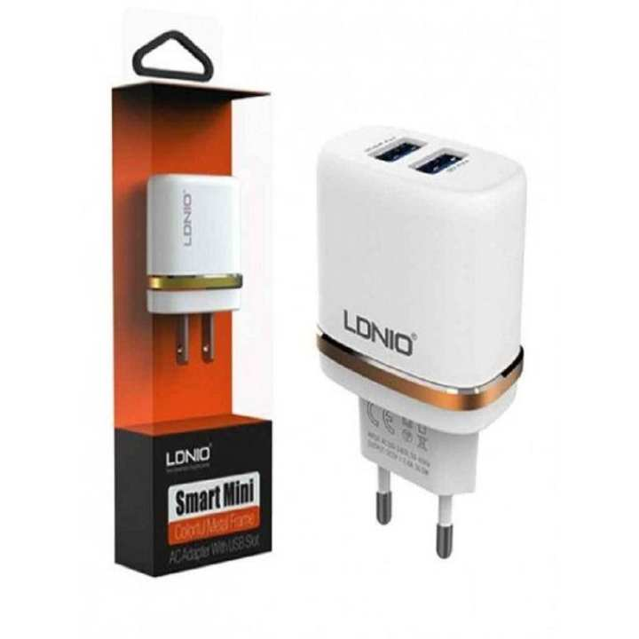 DL-AC52 Travel Charger Dual USB Charger - White