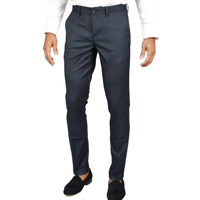 Green Twill Formal Pant For Men