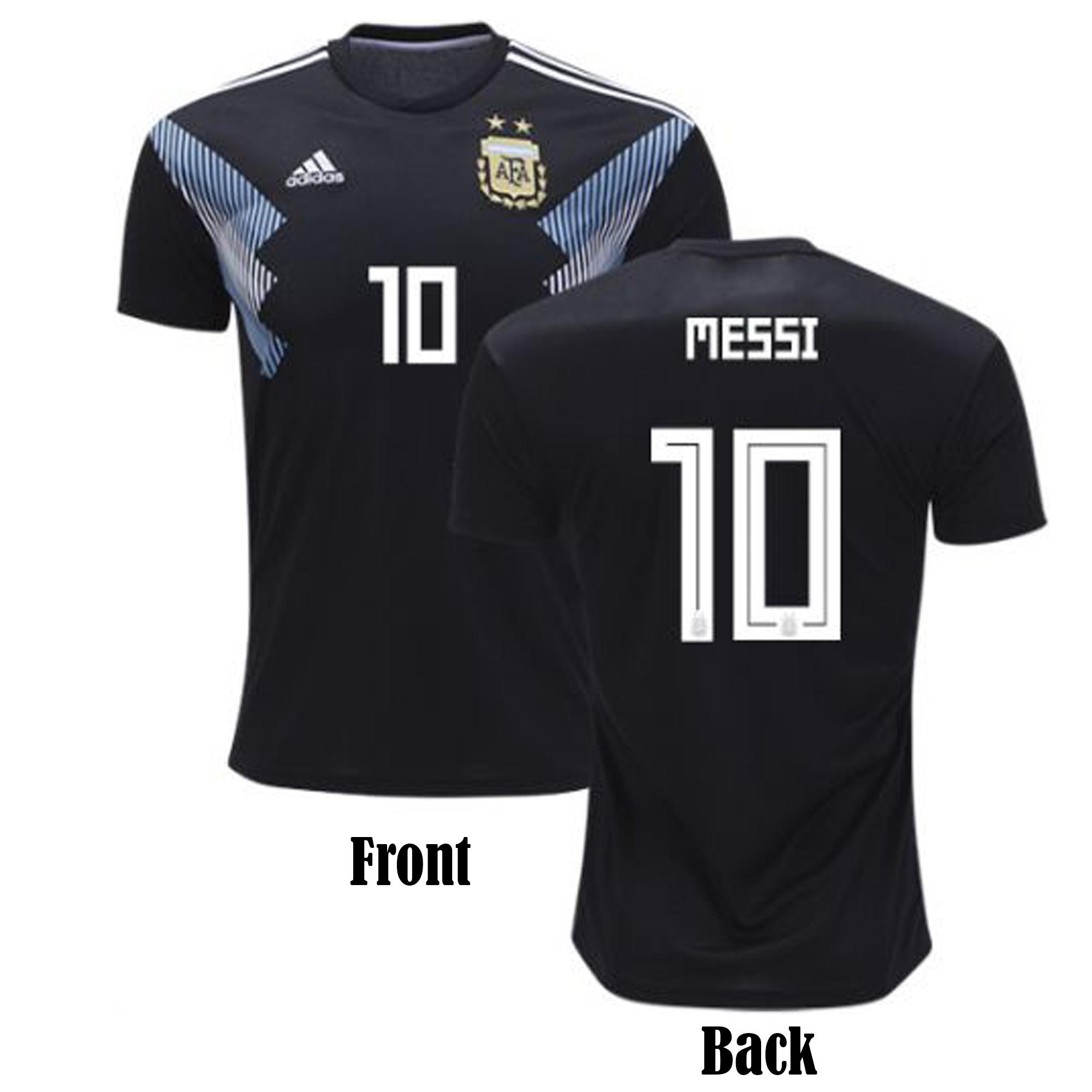 Messi 10 Short Sleeve Argentina Away Jersey - Semi-Premium Quality- 150 GSM 200beb1ea