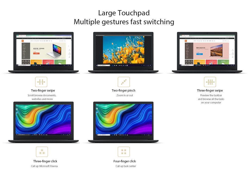 Xiaomi Mi Notebook Ruby 15.6 inch Windows 10 Intel Core i5 8GB RAM 128GB SSD + 1TB HDD NVIDIA GeForce MX110 HD Camera Bluetooth 4.2 - Dark Gray