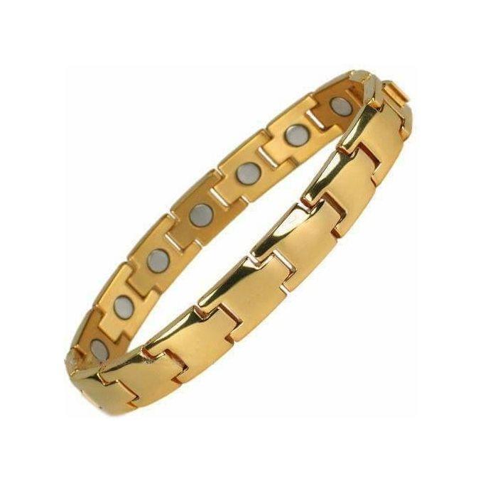 Golden Magnet Ceramic Bracelet For Men