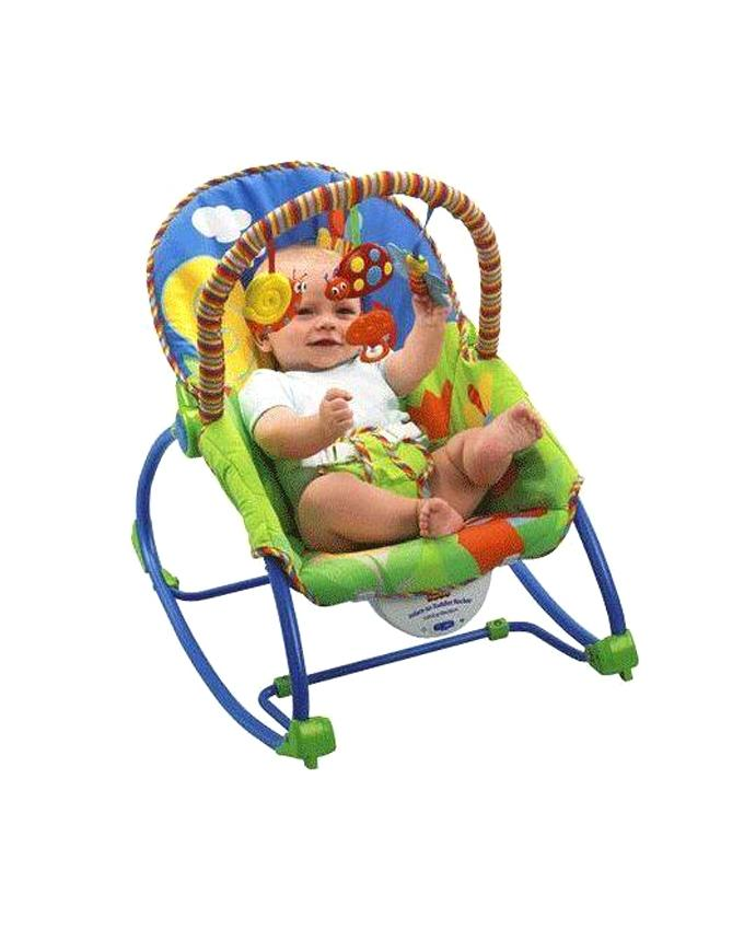 Baby Rocking Chair - Olive and Blue