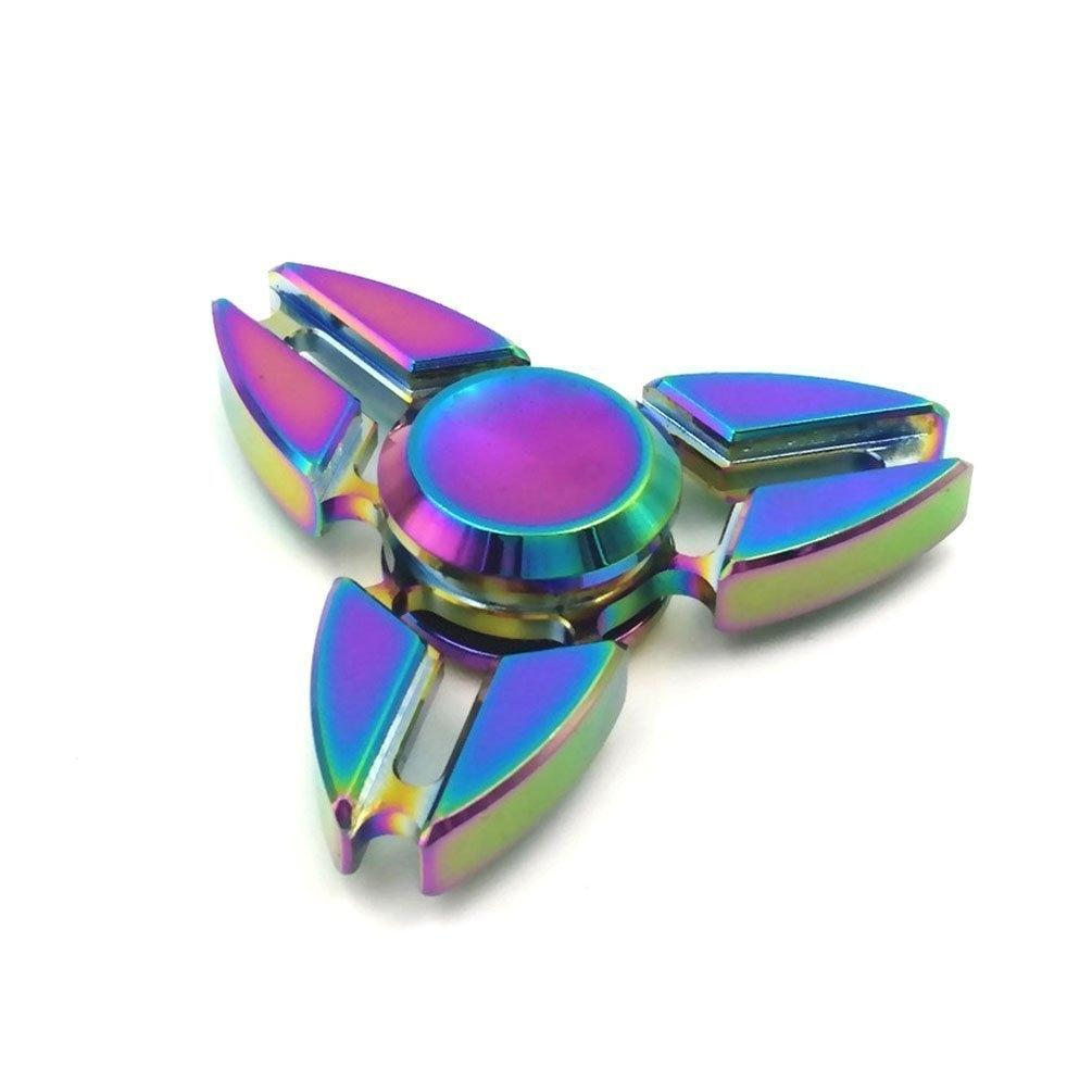 Rainbow Metal High Speed Tri-Spinner Fidget Toy
