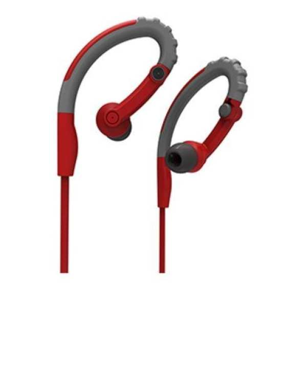 Y6 Stereo Earphone - Dark Gary and Red