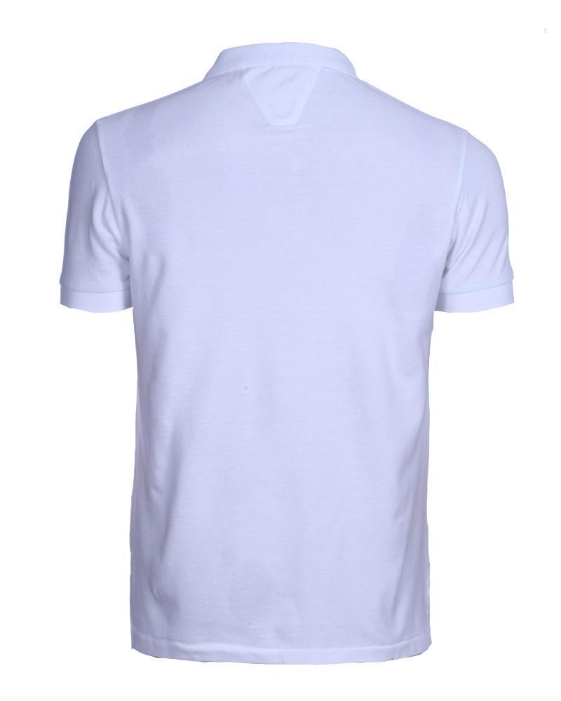 Mixed Cotton Short Sleeve Polo - White