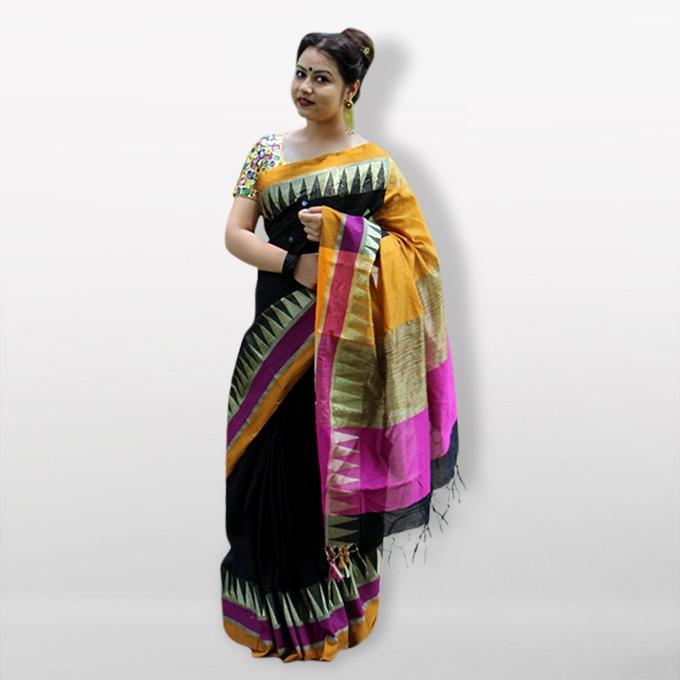 Multicolor Cotton Saree for Women