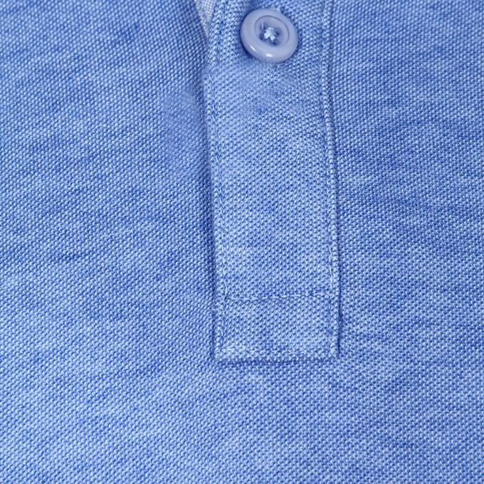 Sky Blue Cotton Casual Polo For Men