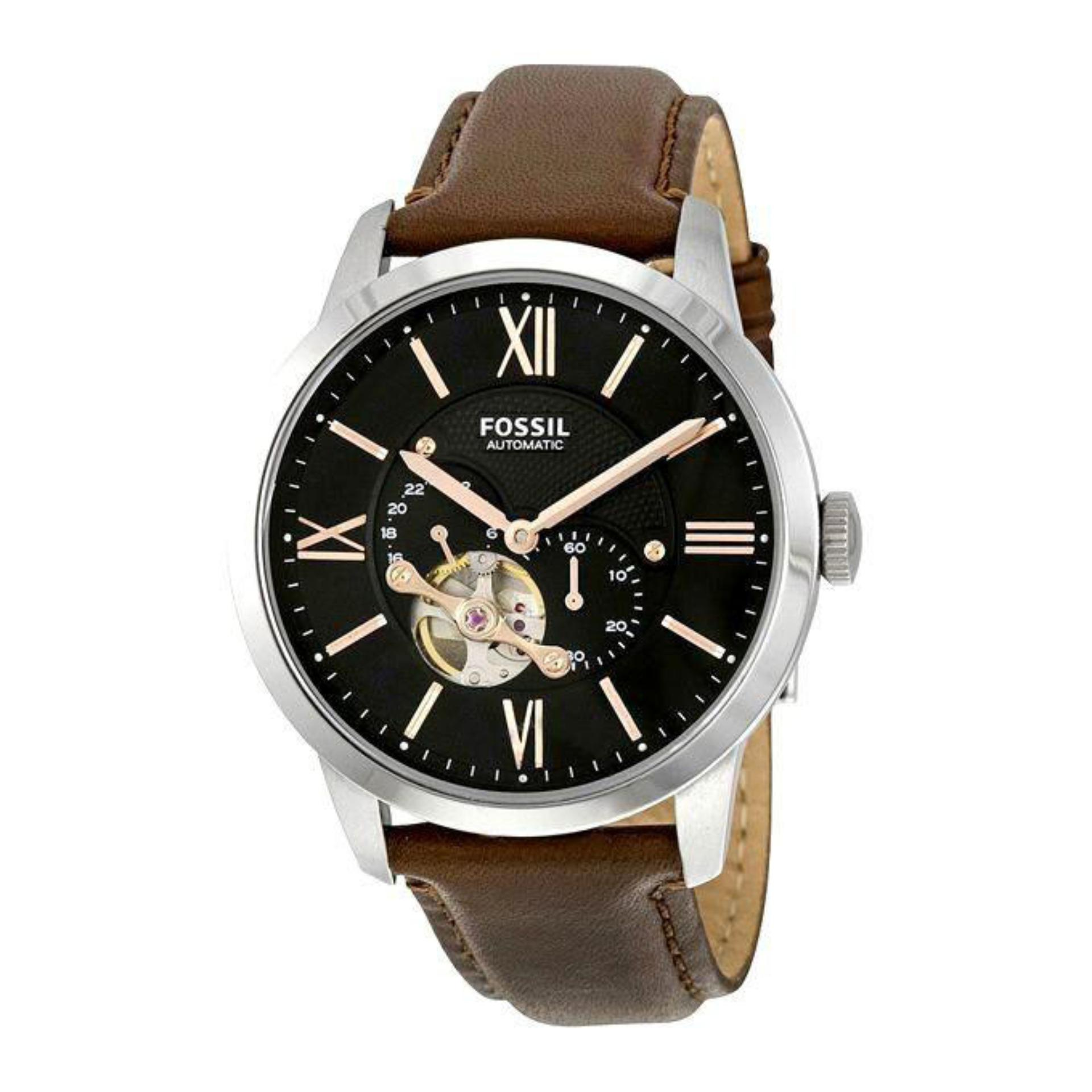 Fossil Online Store In Bangladesh Es4113 Original Me3061 Leather Chronograph Watch For Men Brown