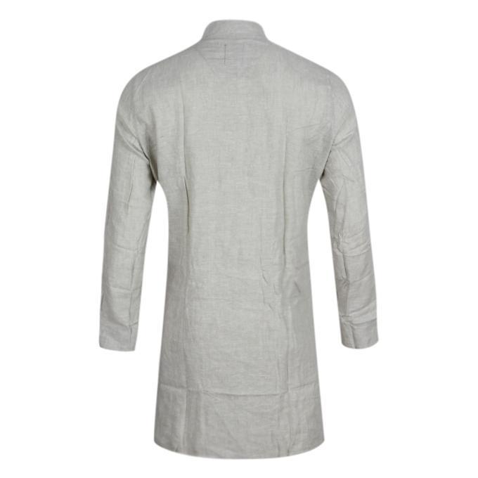 Light Gray Cotton Panjabi For Men