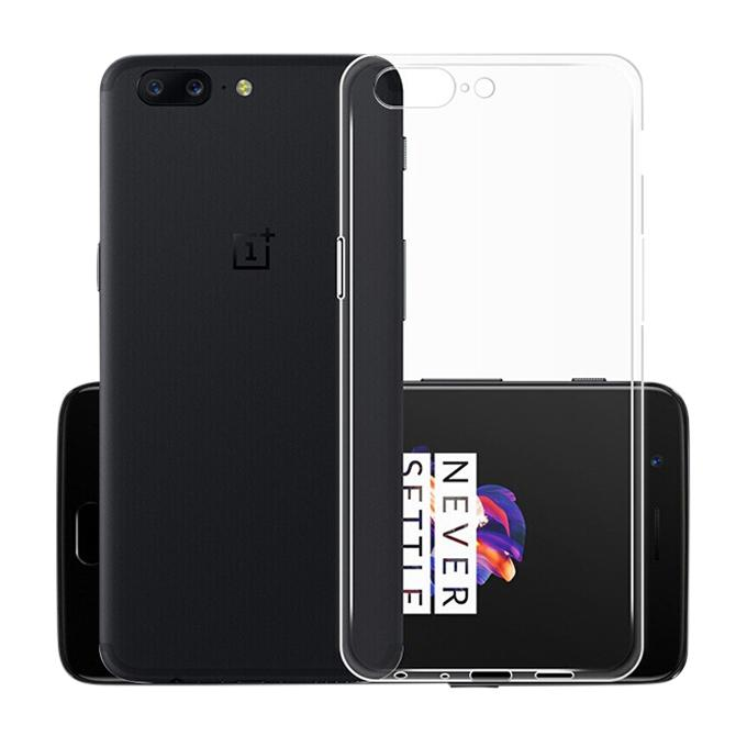 TPU Case Back Cover for OnePlus 5 - Transparent