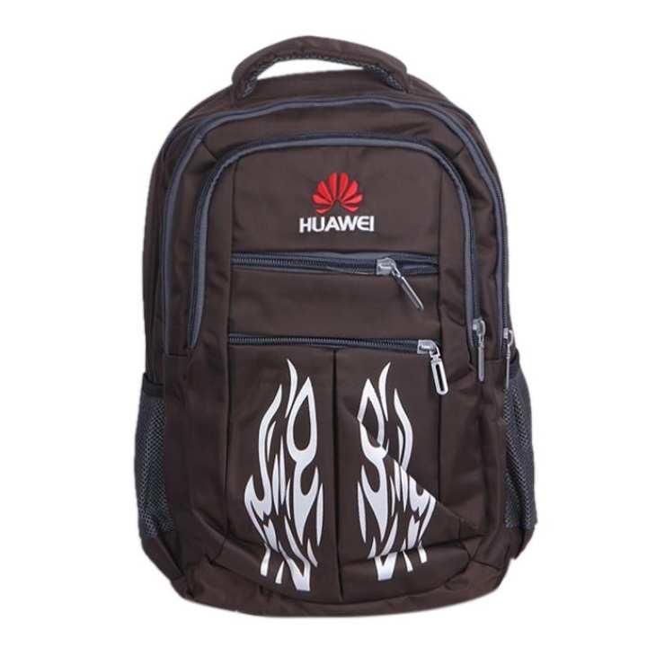 Brown Polystar Backpack For Men