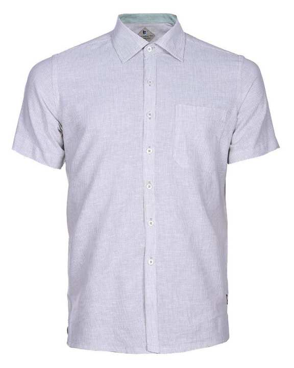 Linen Casual Short Sleeve Shirt - Off White