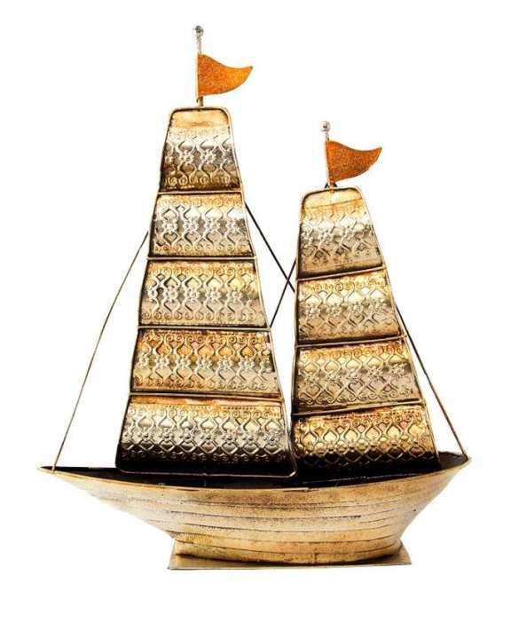 ASB-HN075.1(L) Boat Showpiece  - Golden