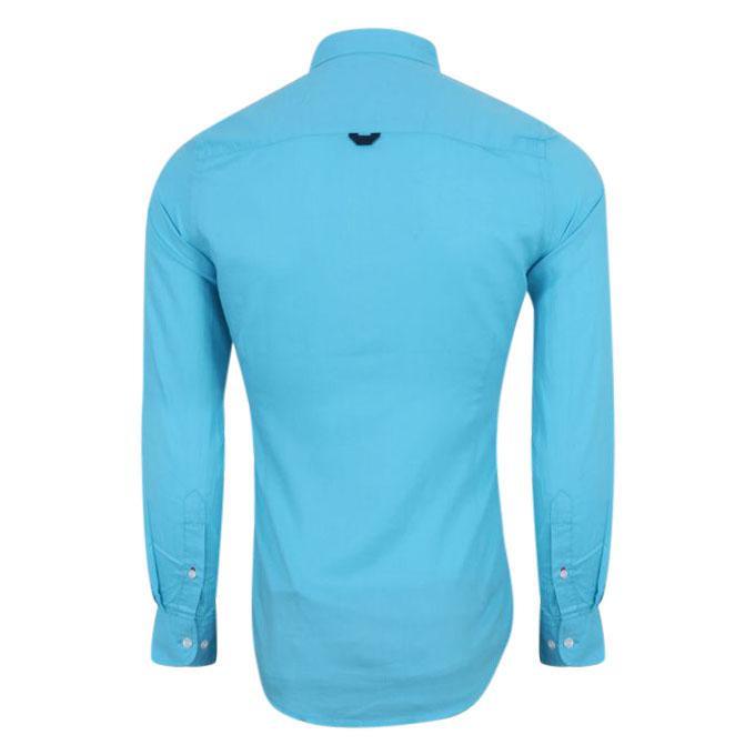 Solid Paste Color Cotton Slim Fit Shirt For Men