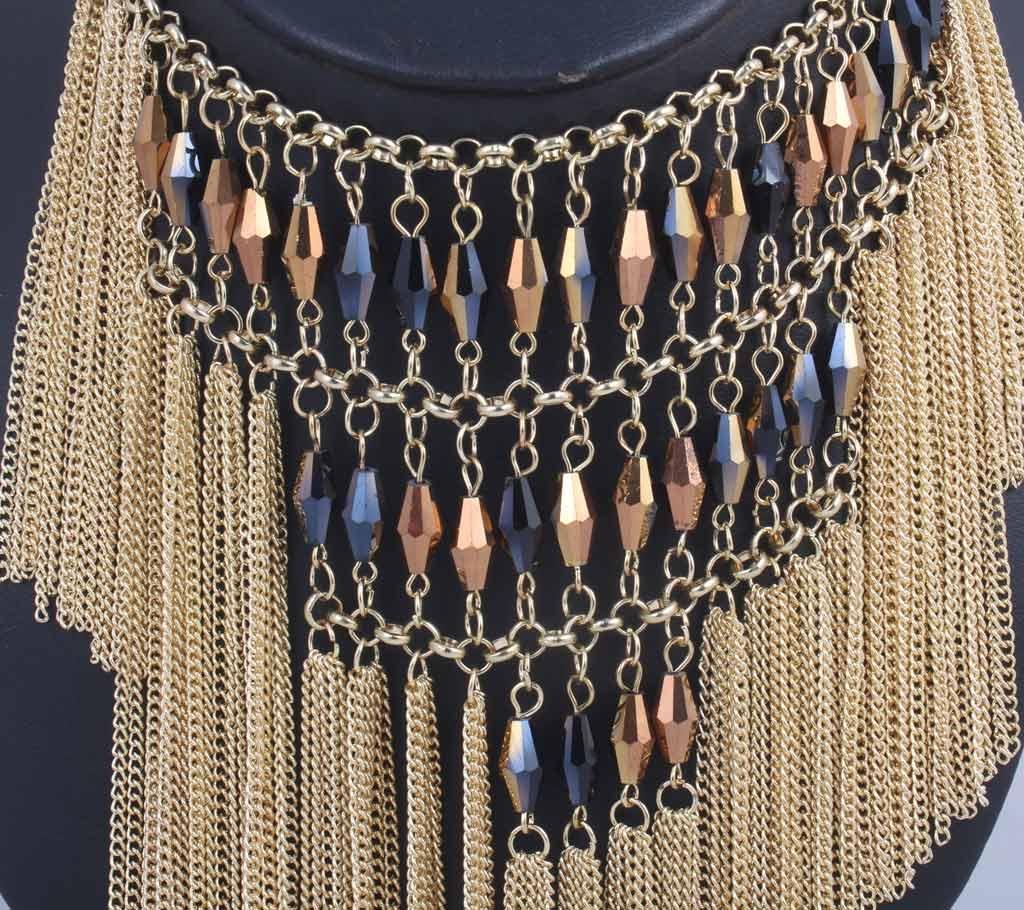 Golden Zinc Alloy Necklace For Women