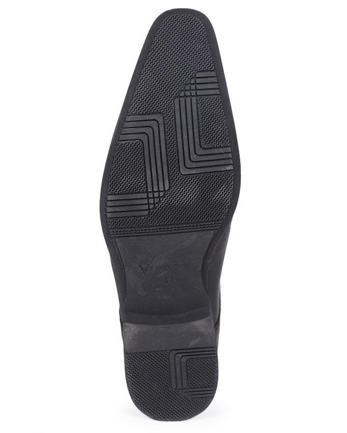 Venturini Black Smooth Leather Formal Shoe for Men