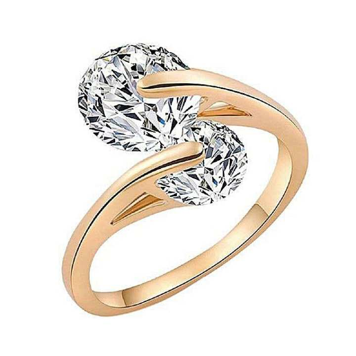 Rose Gold Plated Finger Ring For Women