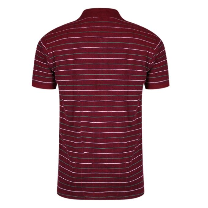 Maroon Cotton Casual Short Sleeves Polo For Men