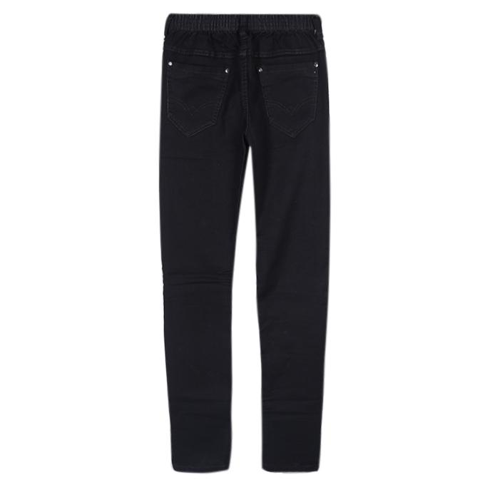 Black Cotton Casual Pant For Boys
