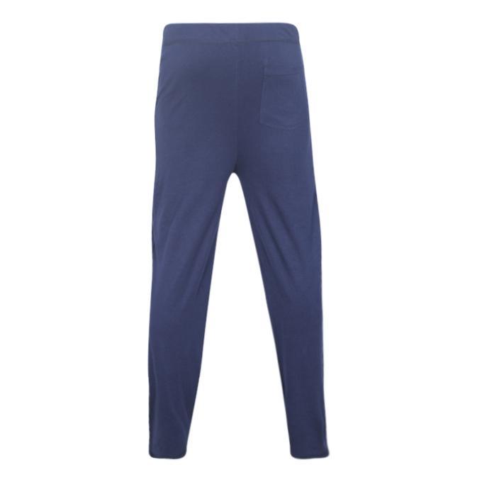 Blue  Cotton Casual Trouser For Men