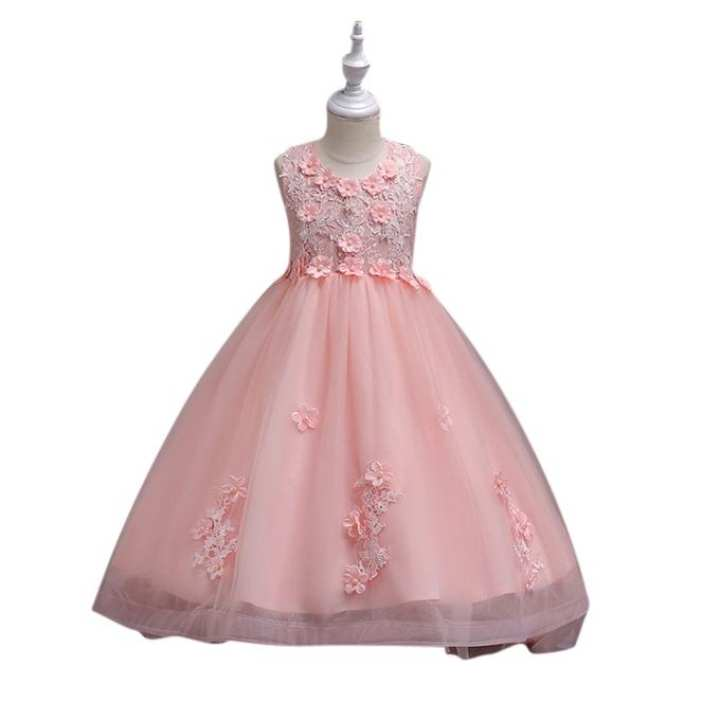 Pink Georgette Party Dress for Girls