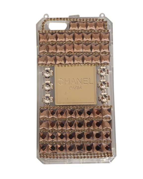 Channel Back Cover For iPhone 6 Plus - Gold
