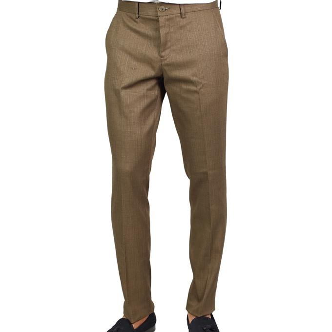Brown Twill Formal Pant For Men