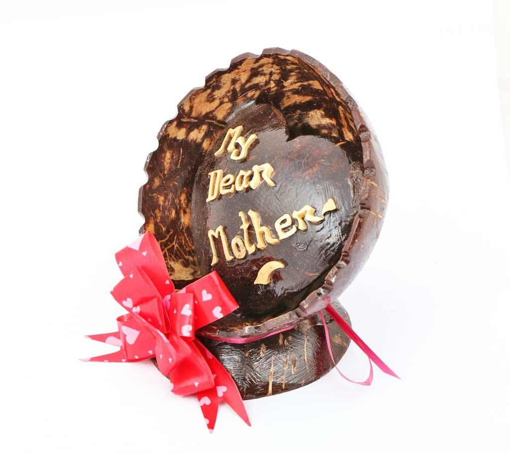 Natural Coconut Shell Gift - My Dear Mother - Chocolate