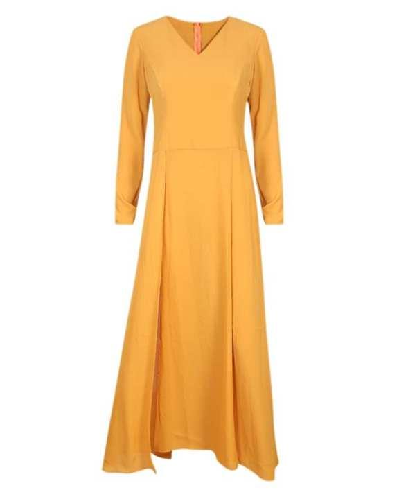 Chiffon Dress For Women - Orange