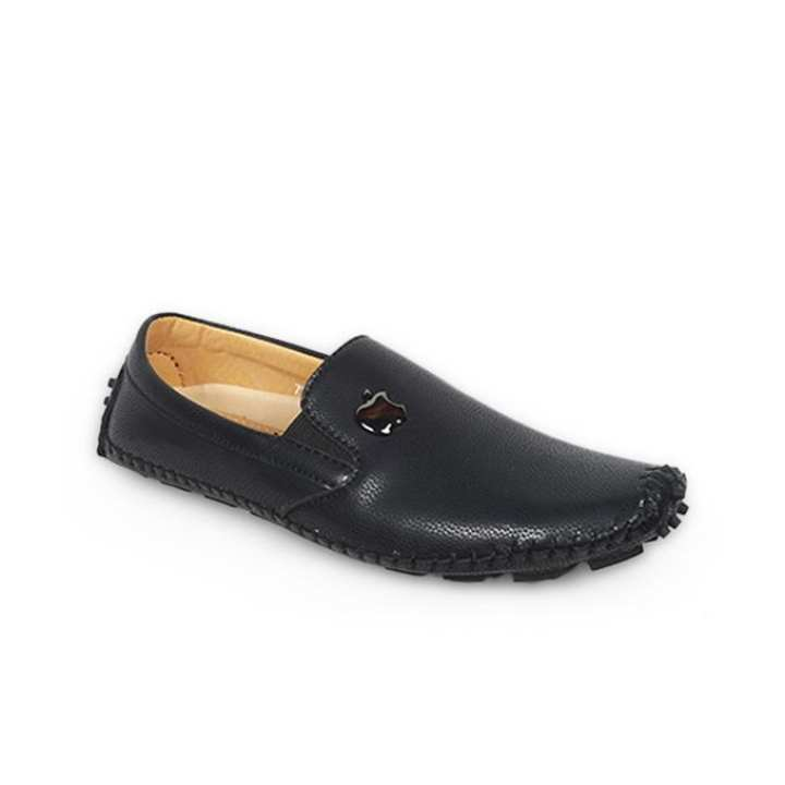 Black Genuine Leather Loafer for Men