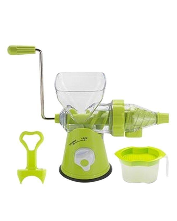 Juice Wizard (2-In-1) Non-Electric Blender & Juicer - Green