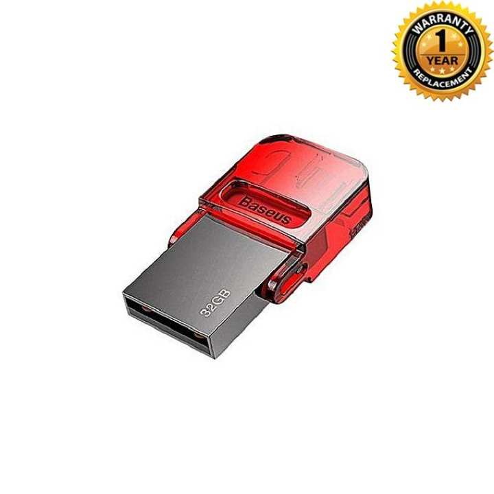 32GB OTG USB Type C Flash Drive for PC Macbook - Red