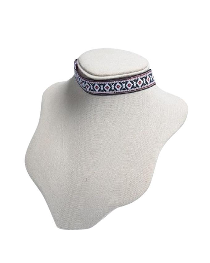 Multi-color Stone and Alloy Choker For Women