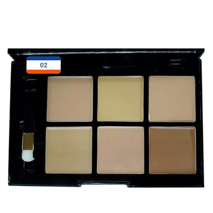 6 Color Foundation Concealer For Women - Shade 02