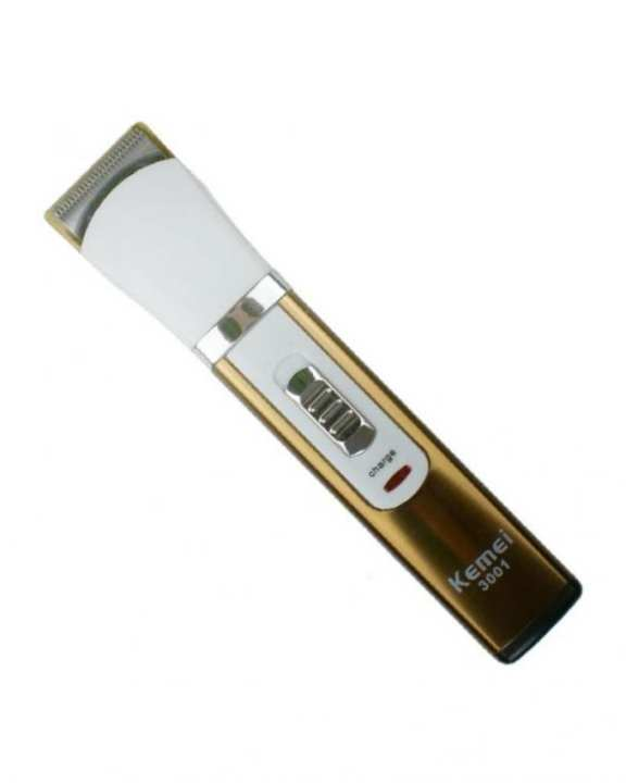 KM-3001A Professional Rechargeable Trimmer - White