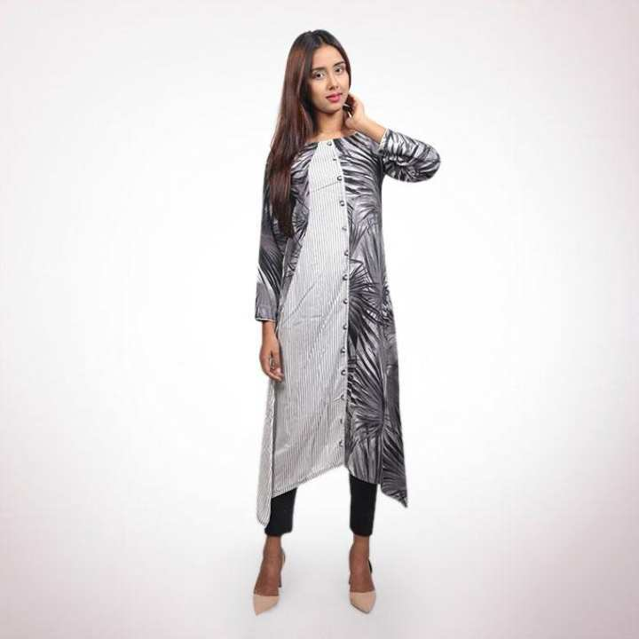 Ash and Gray Georgette Kurti for Women