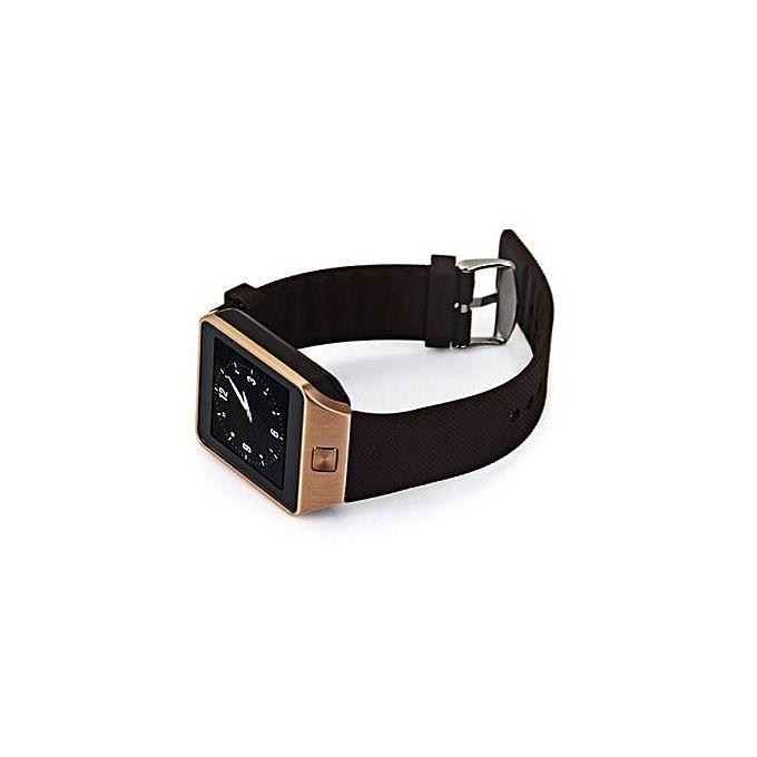 DZ09 Single SIM Smart Watch - Golden